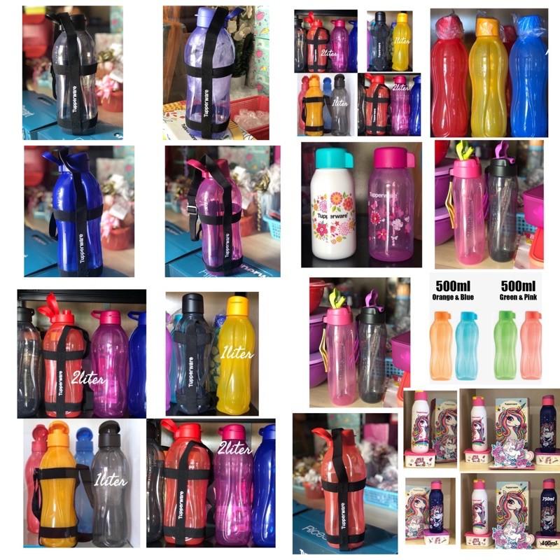Tupperware Eco bottle Drinking 500ml/1liter/750ml & Flip Top Bottle 1 liter @ 2 Liter @slim eco bottle with straw