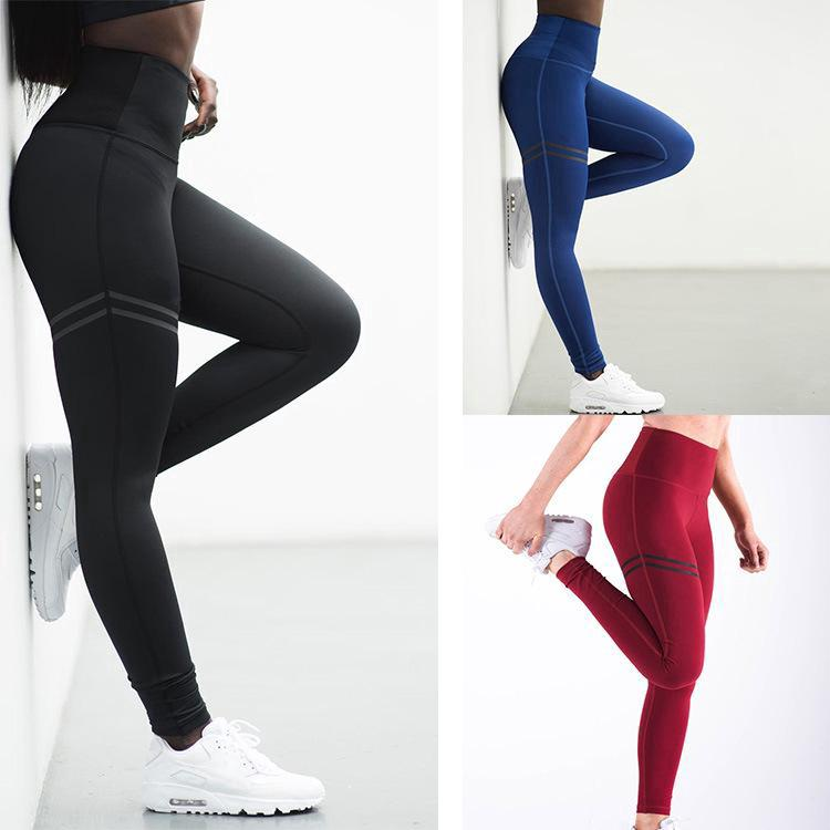 f13b51235816e2 Women High Waist Yoga Pants Fitness Running Pants Leggings Print Leggins  Trouser