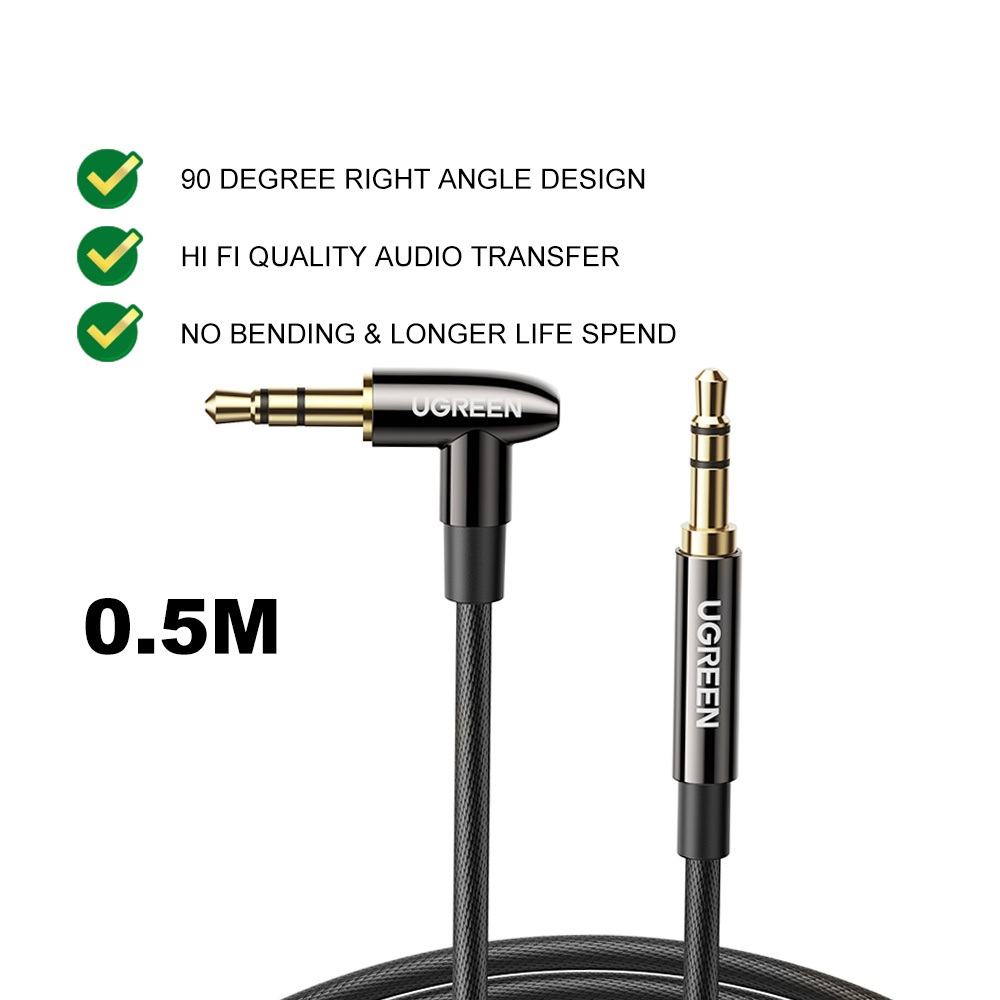 UGREEN 3.5mm Audio AUX Cable Nylon Braided Aux Cord Male to Male Stereo Hi-Fi Sound for Car Headphone Speaker Smartphone