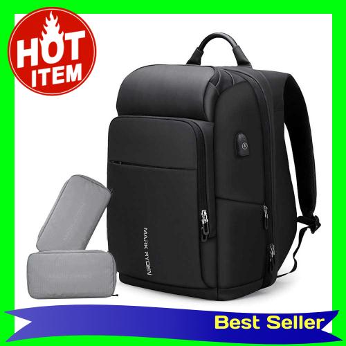 MARK RYDEN Large Capacity Anti-Thief Multifunctional Business Laptop Bag Waterproof USB Charging Outdoor Men Backpack W