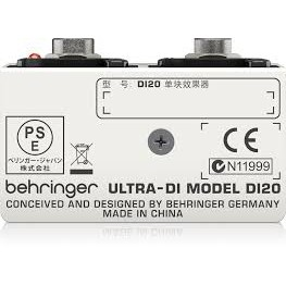 🌟Special Offer !!🌟 Behringer  Professional Ultra DI20 Active 2-Channel DI-Box/Splitter