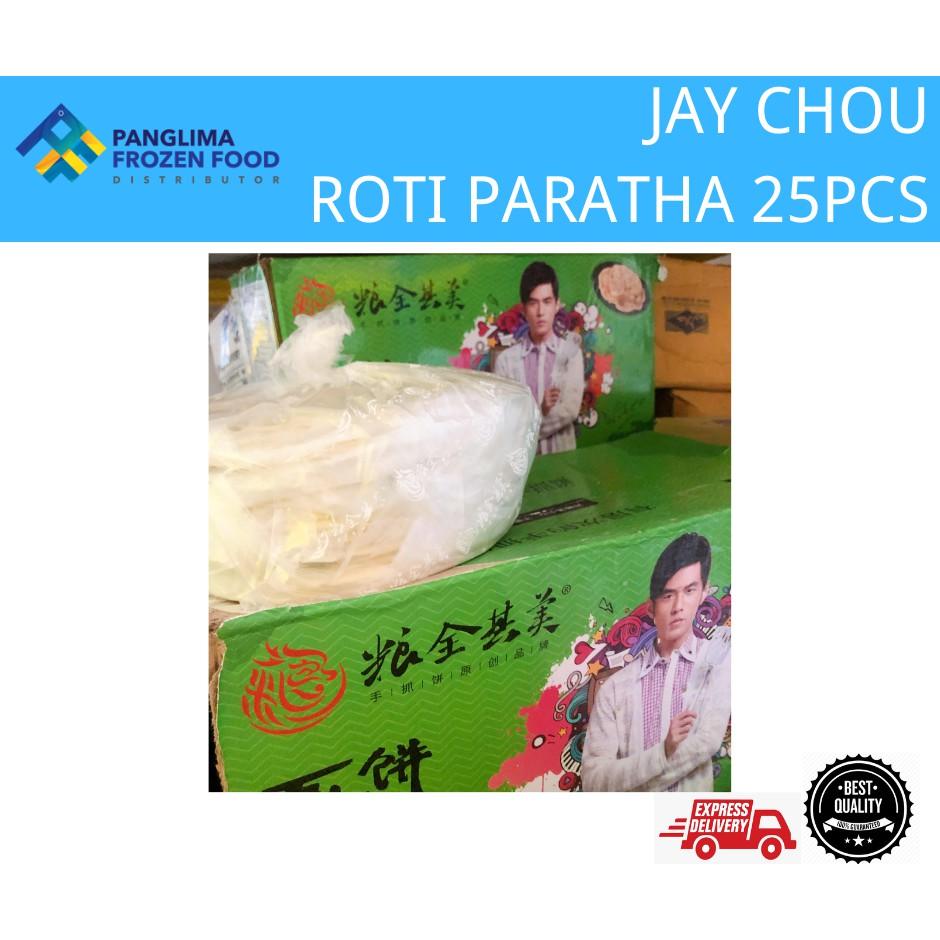 JAY CHOU ROTI PARATHA 25PCS 周杰伦手抓饼 25片
