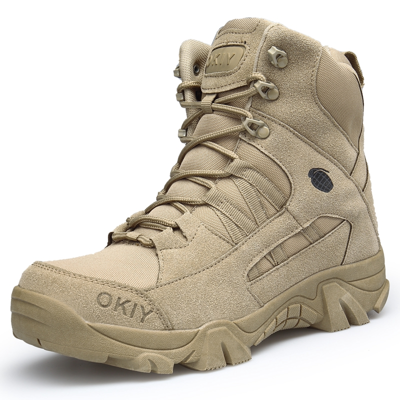 Ready Stock Military Tactical Mens Boots Special Force Leather Waterproof  Desert Combat Ankle Boot Army Work Men's Shoes | Shopee Malaysia