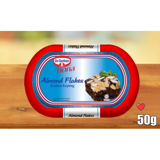 Dr.oetker Nona Flake Almond 50g ( Free Fragile + Bubblewrap Packing )