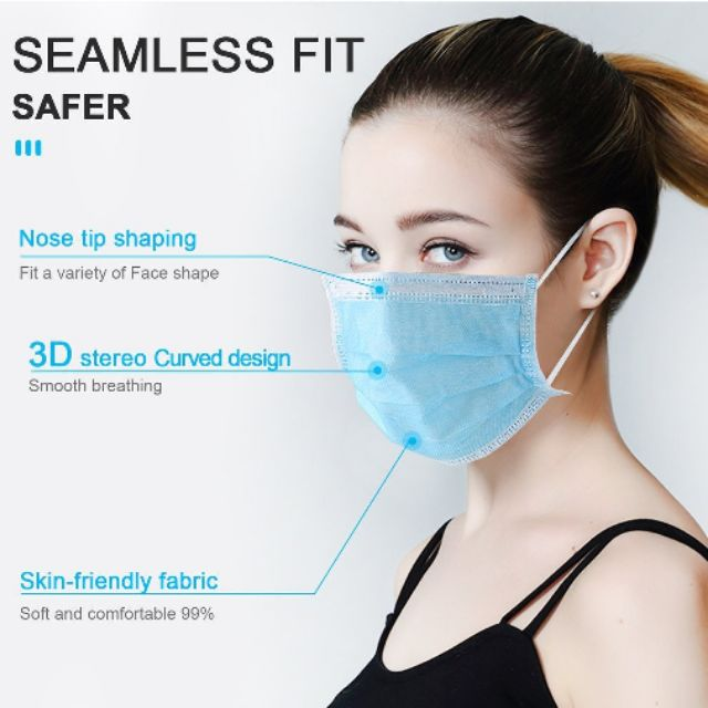 3D curved design 3 layers mask Eco friendly Fabric