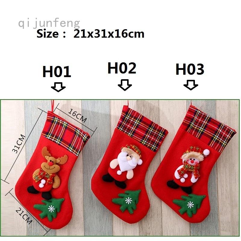 Christmas Santa Stockings Pink Unicorn Decorations Xmas Socks 2Pcs Set