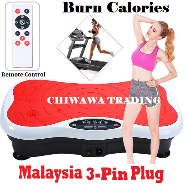 【LCD Screen】Slimming Vibration Plate Shaker Exercise Fitness Gym + Controller