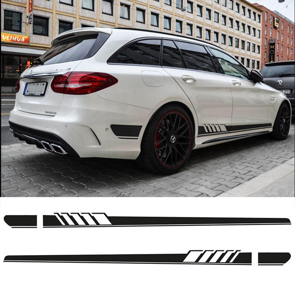 "1Set Gloss Black /""C63+AMG/"" Emblem Car Sticker for Mercedes Benz C-Class C63"