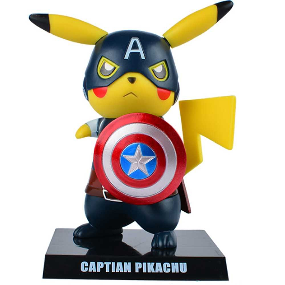 Pikachu Action Figure Toy Car Furnishing Collection (1)
