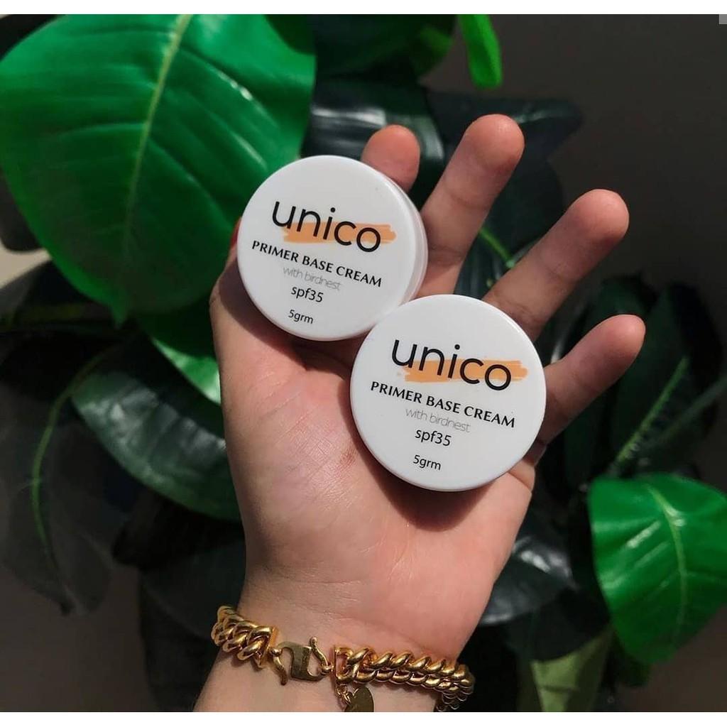 UNICO 5IN1 PRIMER BASE CREAM WITH BIRDNEST 5G 100% ORIGINAL HQ+FREEGIFT