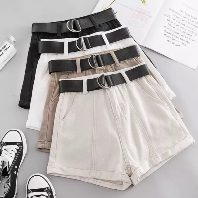 [XS~3XL]Plus Size Korean style high waist Denim Shorts 夏天短裤女新款韩版高腰牛仔百搭学生宽松原宿短裤女