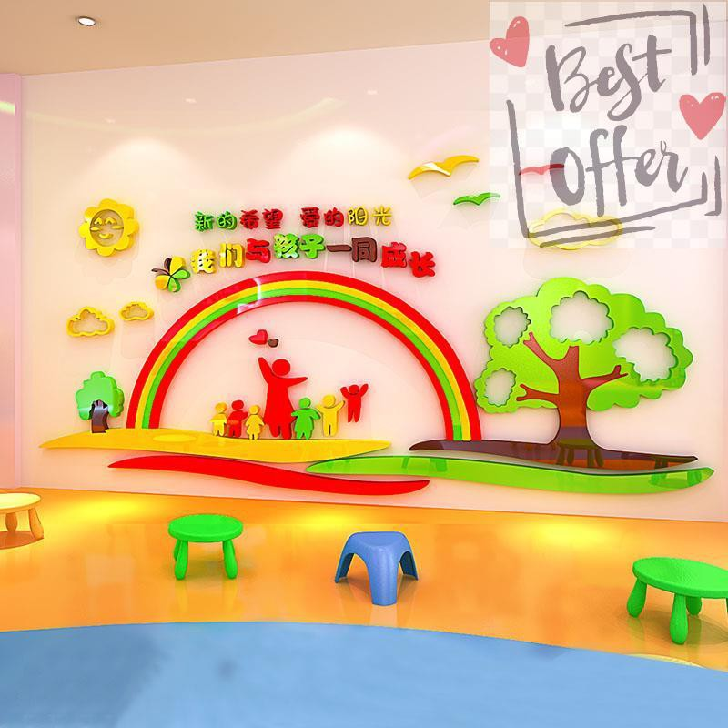 3d Acrylic Kindergarten Opening Tutoring Classroom Classroom Culture Theme Background Wall Decoration Three Di709 Shopee Malaysia
