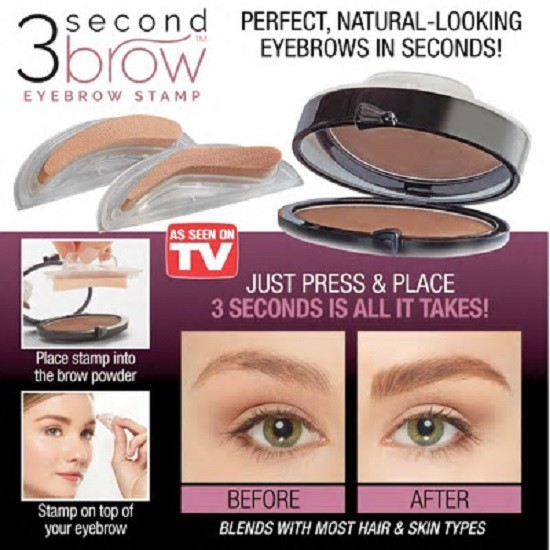 3 Second Brow Eyebrow Stamp Perfect Natural Looking Eyebrows In Seconds