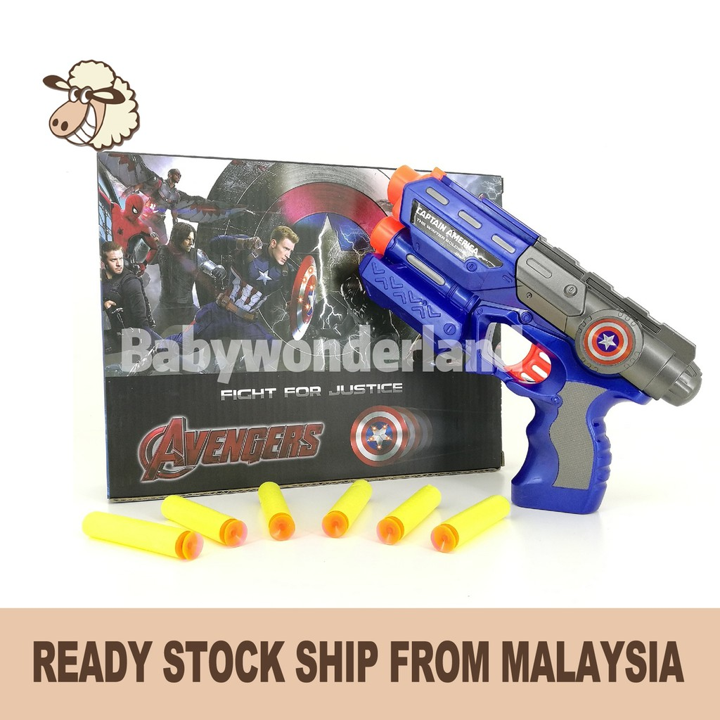 Kids Toys Avengers Series Nerf Gun