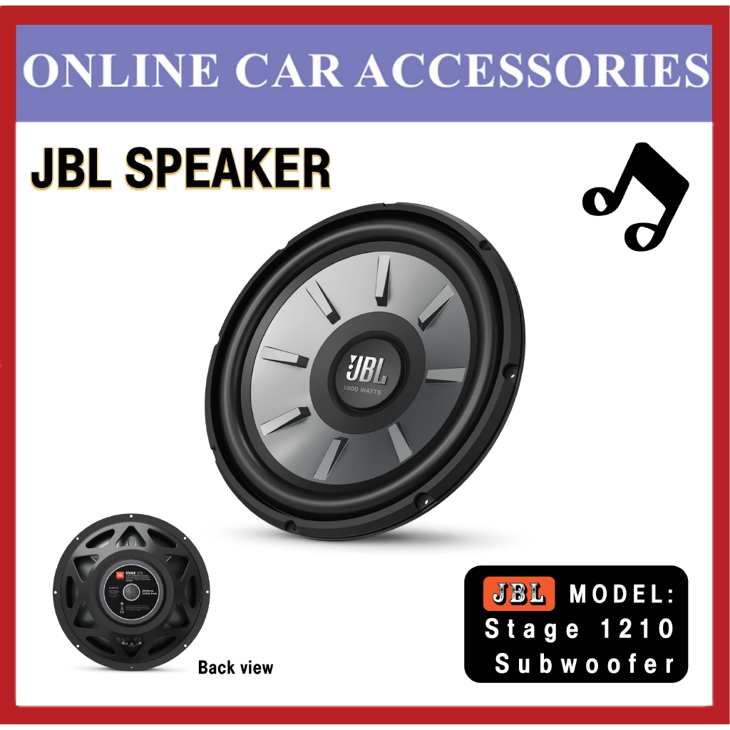 """JBL Stage 1210 12"""""""" (300mm) woofer with 250 RMS and 1000W peak power handling"""