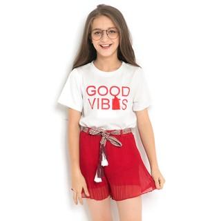 070046a620 Girls clothes set Summer Letter Print T shirt Mesh Skirt Suit Kids ...
