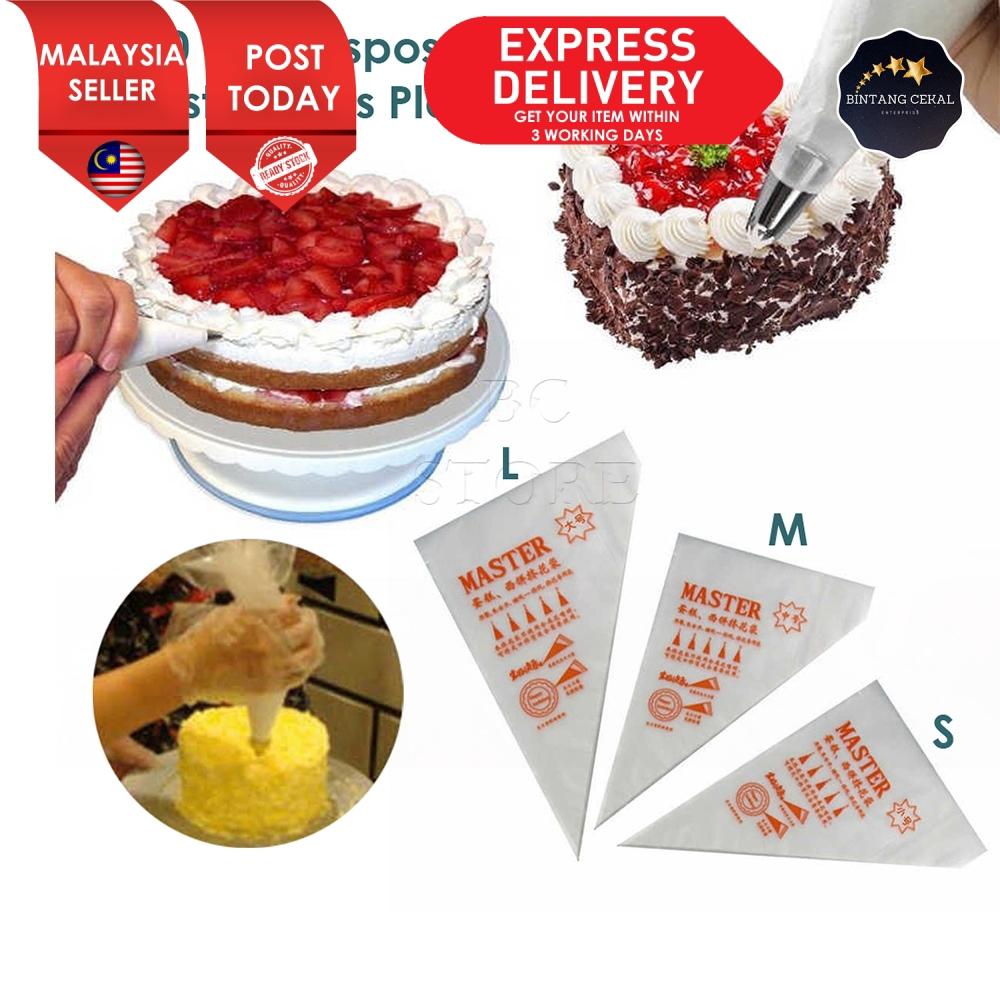 One time cream cake decorating bag tool 100pcs