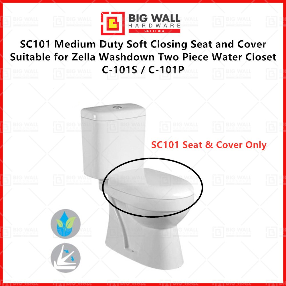 Zella Seat Cover SC101 Suitable for Washdown Two Piece Water Closet C-101S / C-101P Big Wall Hardware
