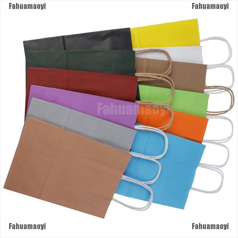 Fahuamaoyi☀❥ Kraft Paper Gift Bag With Handle Festival Jewelry Bags Wedding Package Supplies