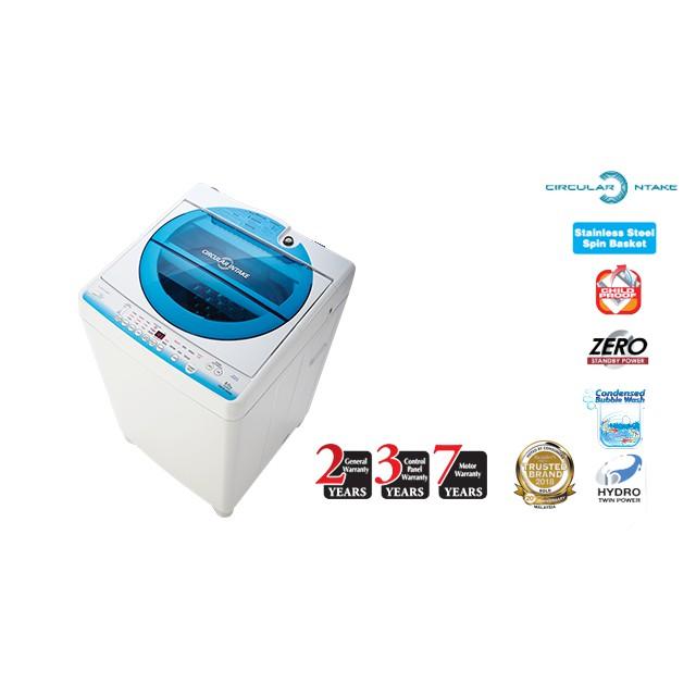 Toshiba 8.0Kg Auto Washing Machine AW-E900LM MESIN BASUH WASHER