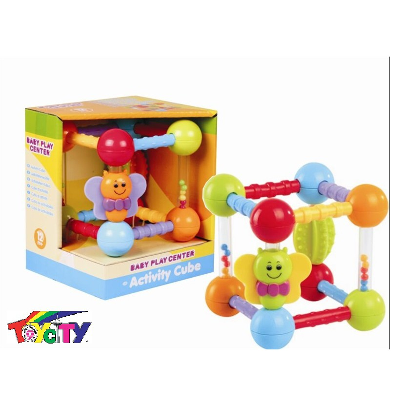 BABY PLAY CENTER ACTIVITY CUBE FUN PLAYSET FOR TODDLERS AND BABY