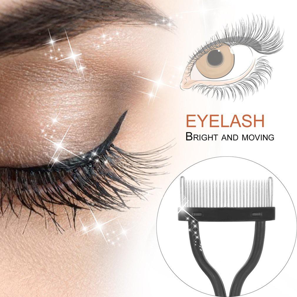 2984bd3c804 SALE> Eyelash Brush stainless Steel Needle Eyelash Comb Mascara ...