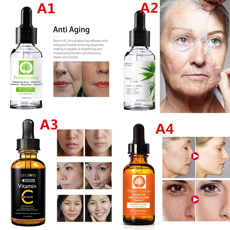 Vitamin-C Face Essence Anti-Aging Wrinkle Removal Whitening Facial Serum