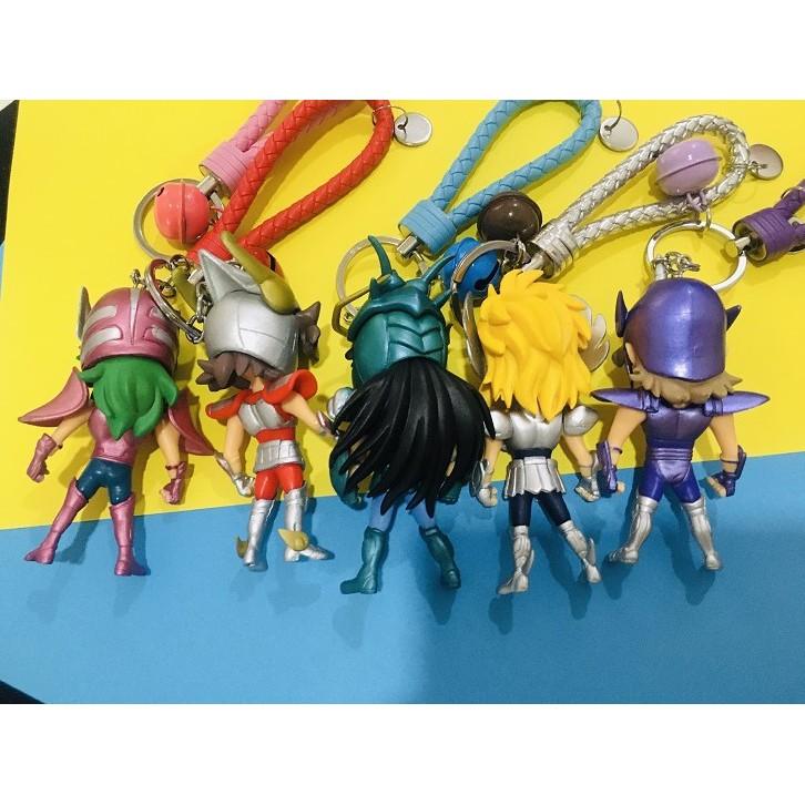 Japanese Anime Cartoon/ Saint Seiya Keychain Seiya, Shiryu, Shun, Hyoga, Jabu