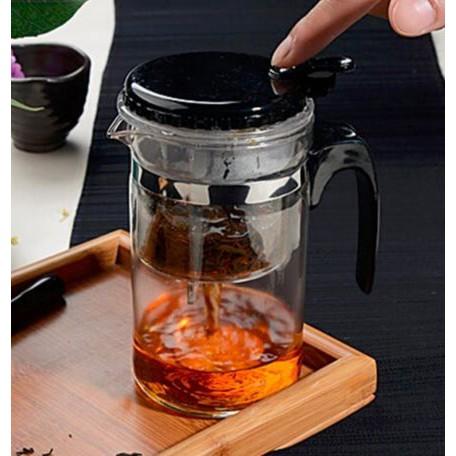 ลด50%!!!กาชงชาก่น้ำชากาแก้วชงชาเหยือกน้ำชาสะดวก--แถมช้อน2ค