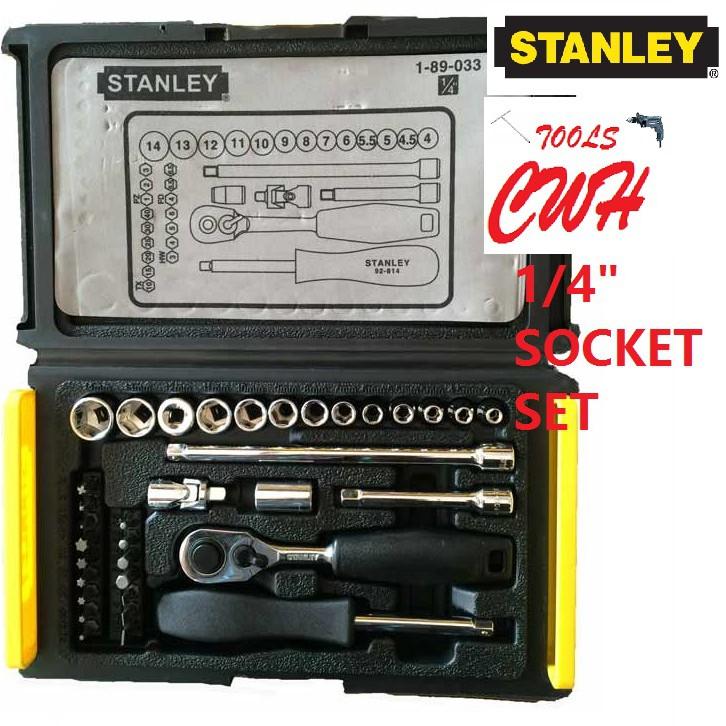 """STANLEY 89-033 1/4"""" 4MM-14MM SOCKET SET 89033 1-89-033"""
