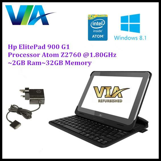 HP ElitePad 900 G1~Intel Atom Z2760~2Gb~32Gb Memory~Windows 8