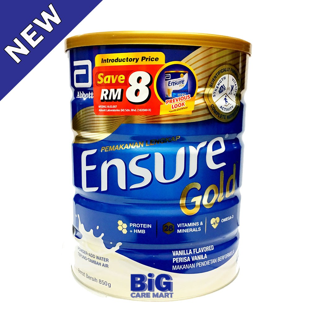 Ensure Gold Vanilla 850g + FREE Nutrition Drink