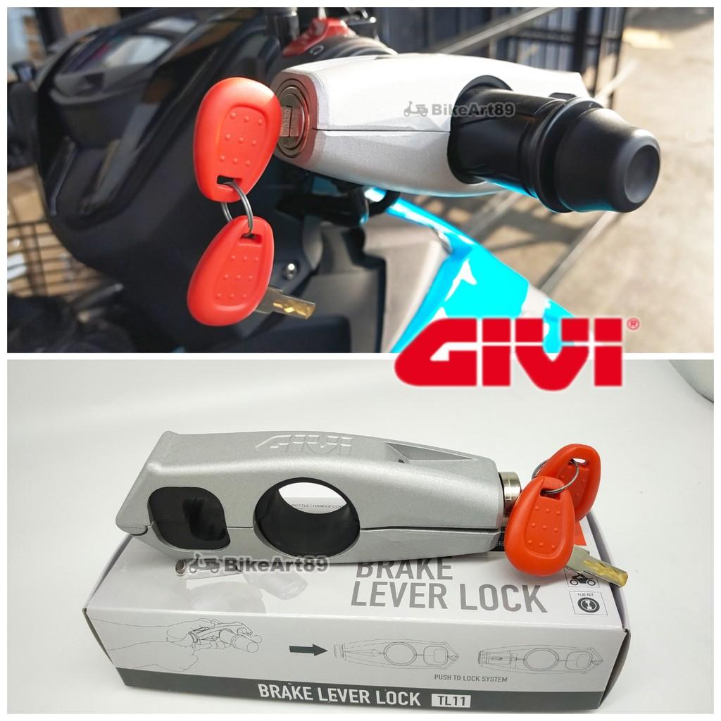 Grip Lock GIVI TL11 Silver Brake Lever Throttle Security Lock