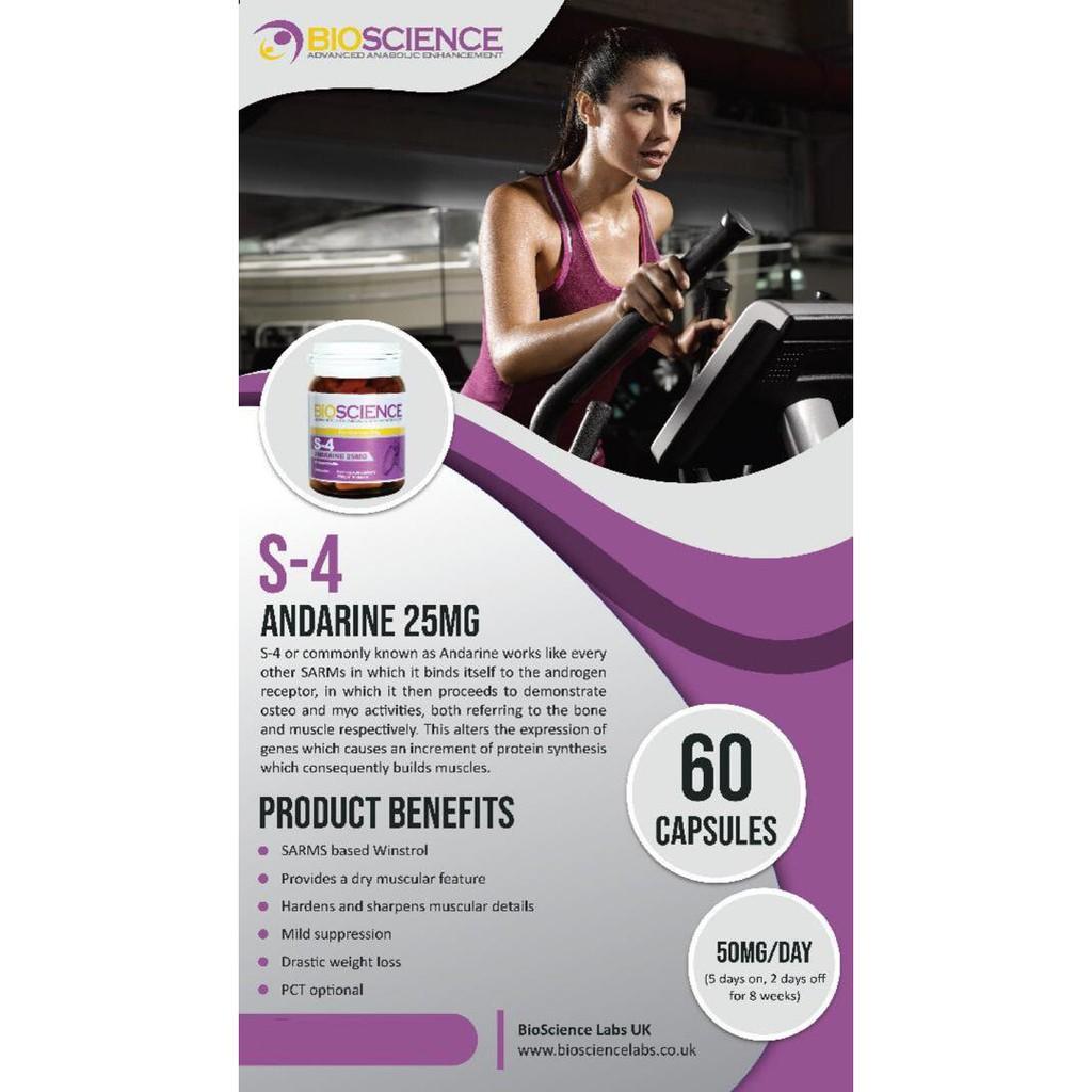 SARMS BIOSCIENCE ANDARINE (S4) | Shopee Malaysia