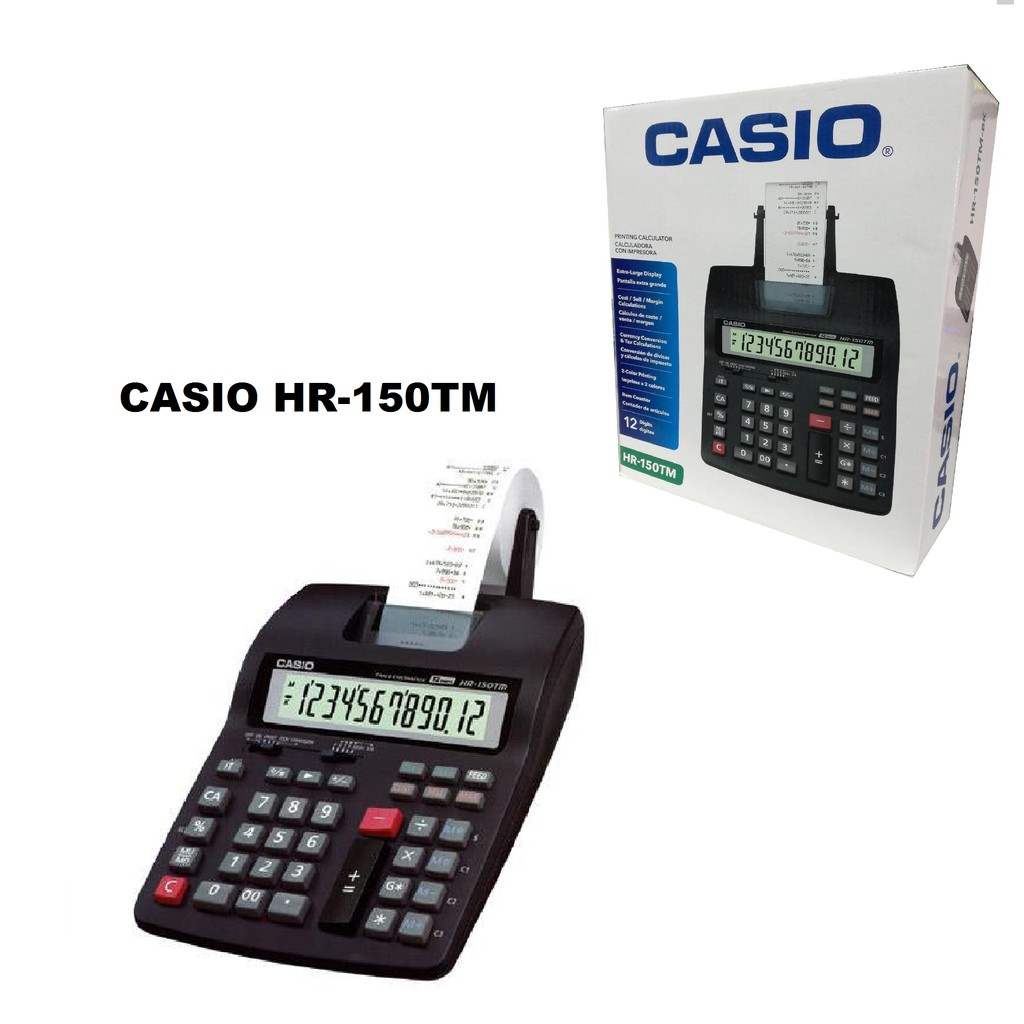 Casio Calculator Hr 150rc Printing Shopee Malaysia Kalkulator Portable Printer 8 Tm