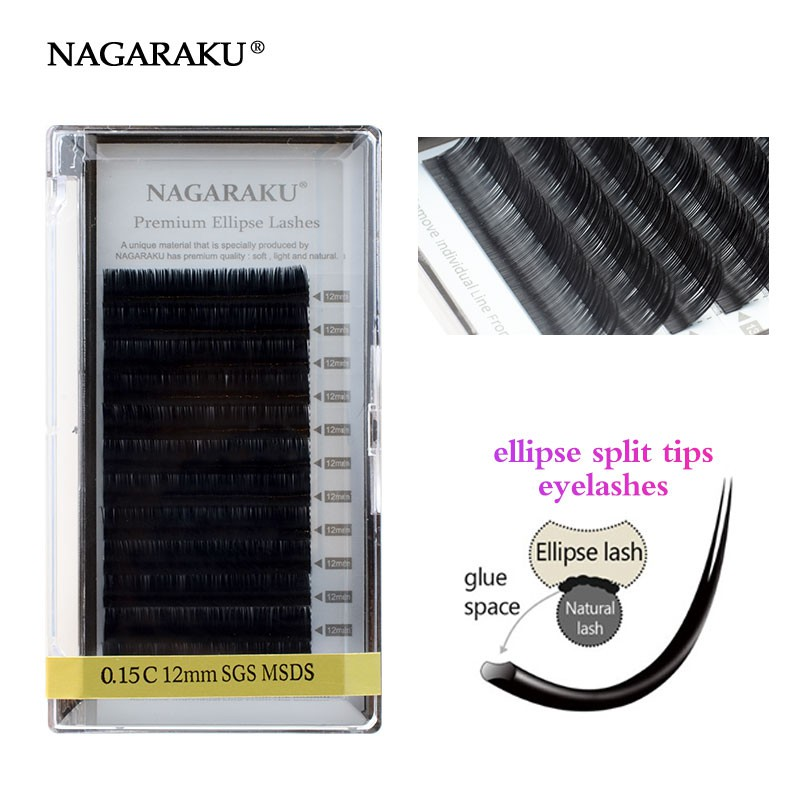 df261e04452 NAGARAKU hot selling Ellipse Flat False Eyelash Extension | Shopee Malaysia