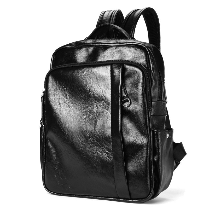 22ee361cabf0 Fashion Men Bagpack Leather Man Casual Backpack Leisurely School Bag