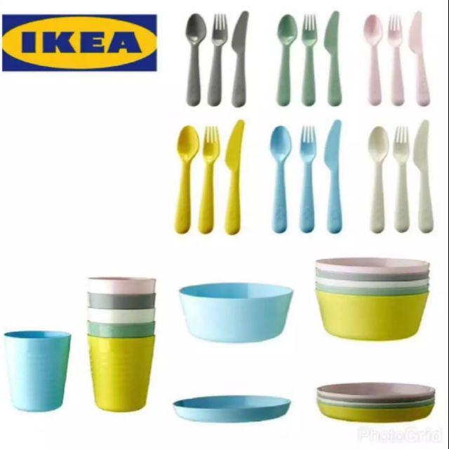 ikea kalas set pinggan mangkuk plastik kanak kanak shopee malaysia. Black Bedroom Furniture Sets. Home Design Ideas