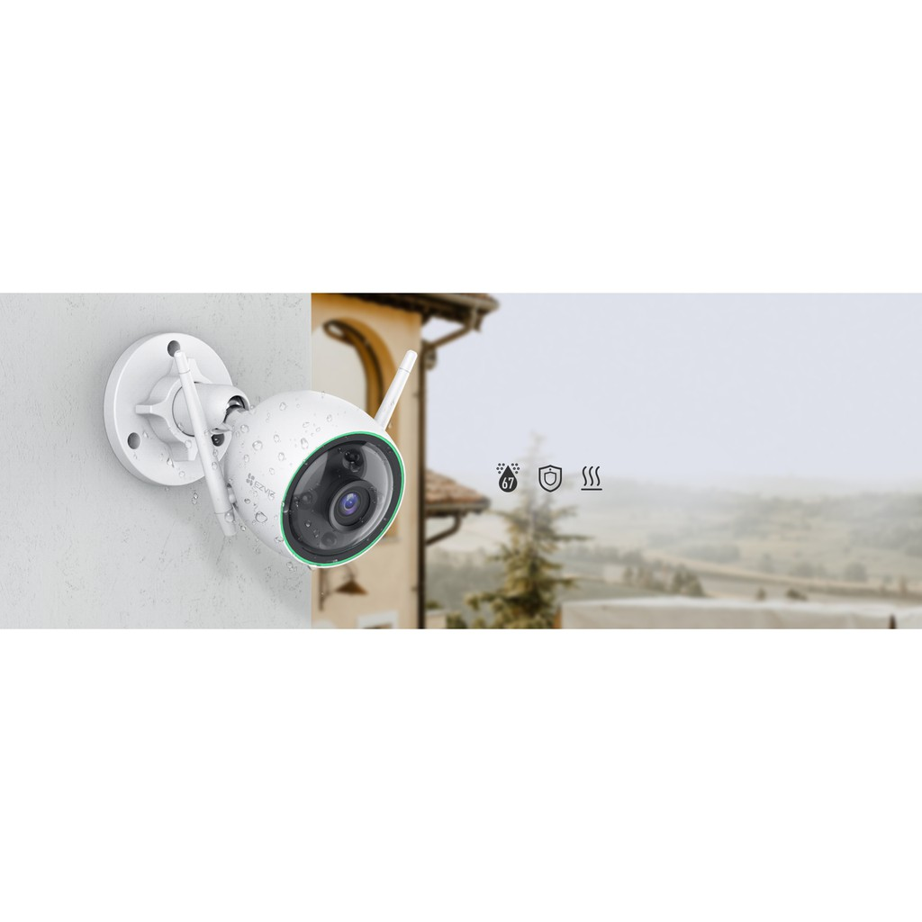 (NEW MODEL) EZVIZ C3N 1080P Color Night Vision, Wi-Fi Outdoor IP67 Waterproof AI-Powered Person Detection, H.265