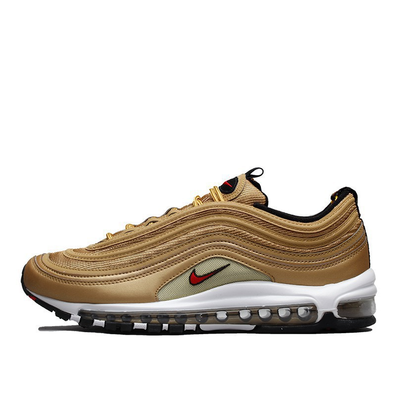 Zshan Original Fashion Nike Air Max 97 OG Gold and Silver Bullets Casual Sneaker
