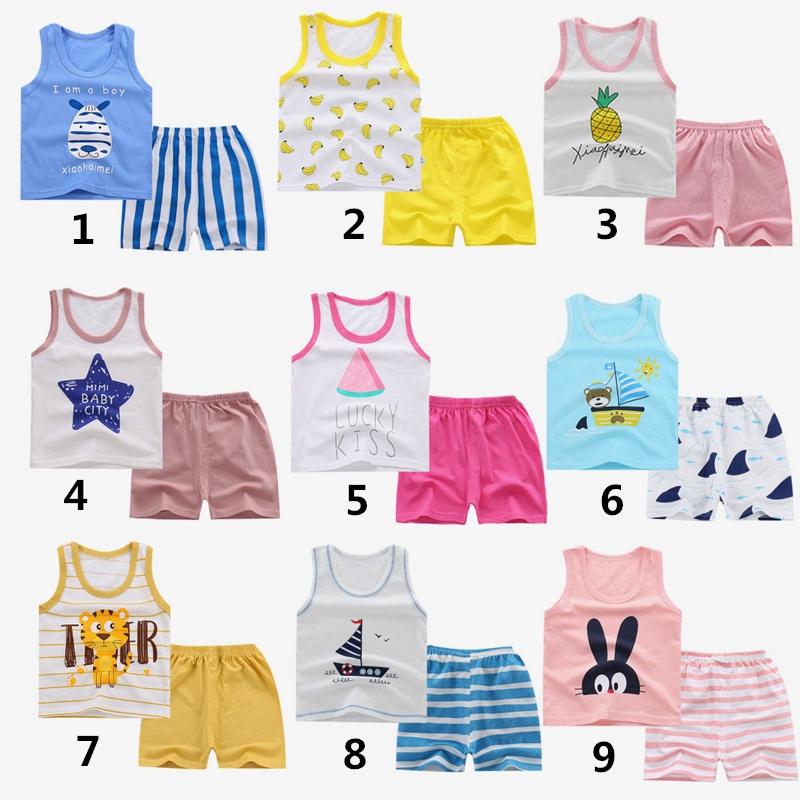X-BAOO Baby Girls Toddler Summer Spaghetti Strap Sleeveless Soft Tank Tops 1-6