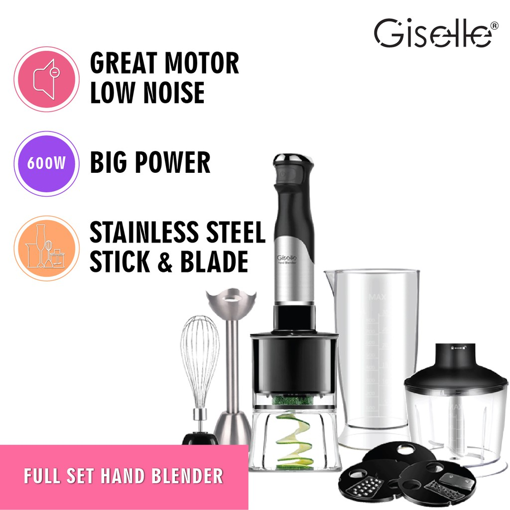 Giselle Full Set Hand Blender & Food Processor with Malaysia Plug (600W) KEA0188