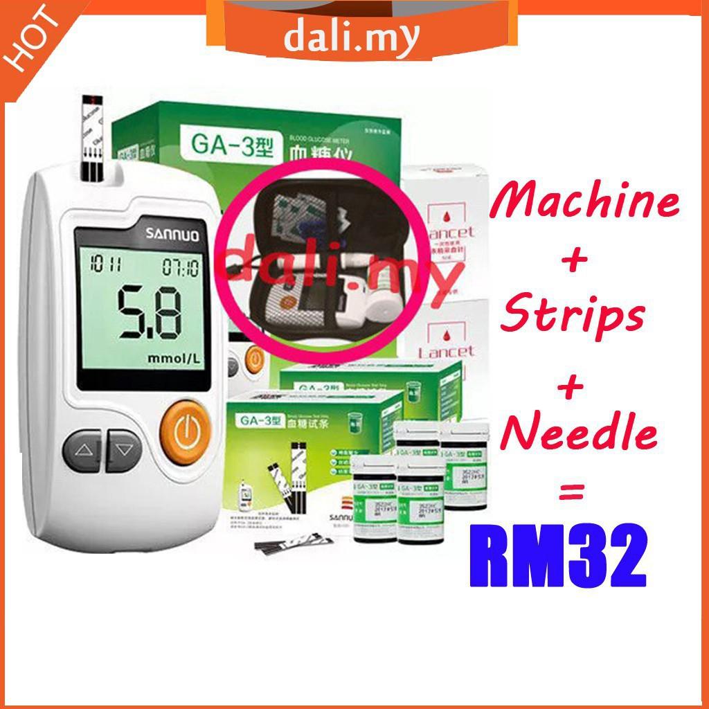 GA-3 blood glucose meter + Test Strips + Lancets Needles Blood Sugar  Detection