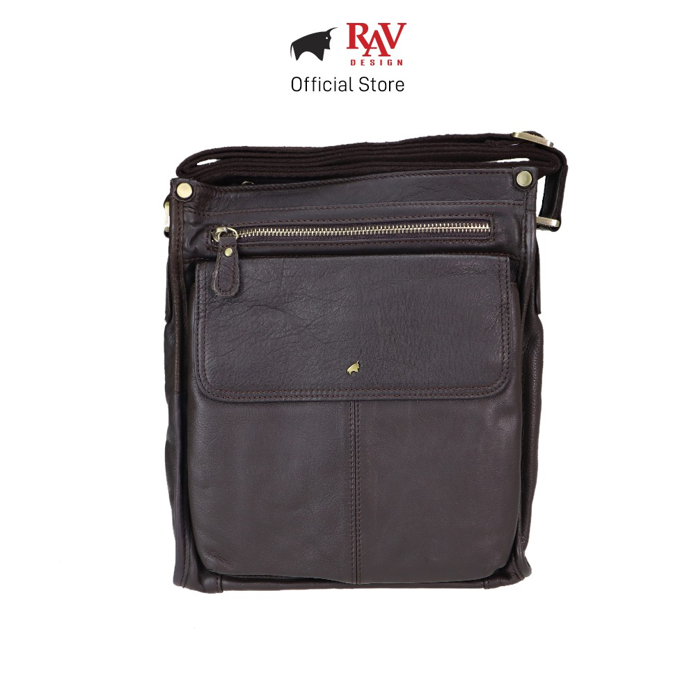 RAV DESIGN Men Genuine Cow Leather Sling Bag Brown |YRC058 Series