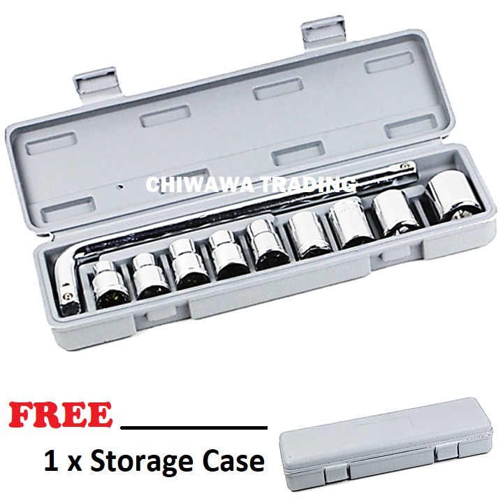 10pcs Combination Socket Wrench Set with 1/2