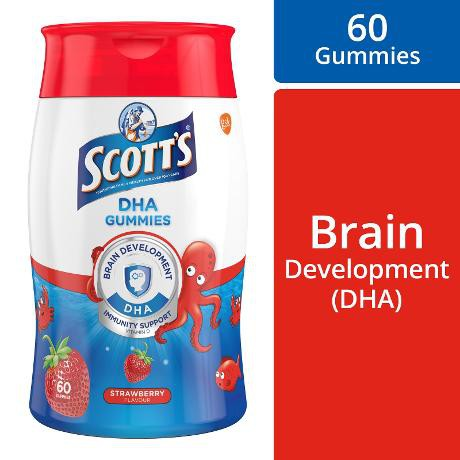 SCOTT'S DHA GUMMIES WITH VIT.D Strawberry 60s+15s + FREE GIFT