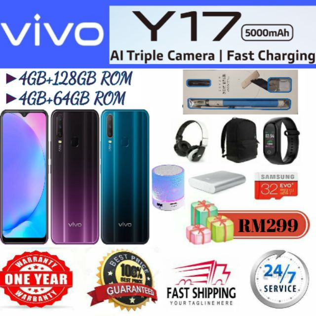 Vivo Y17 [ 64GB/128GB ] Gift up to 15++