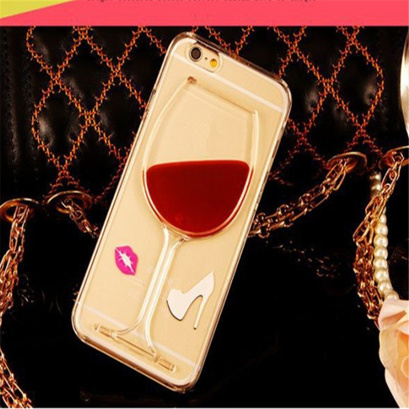 Dynamic Liquid Quicksand Wine Cup Clear Cover iPhone 5/6 | Shopee Malaysia