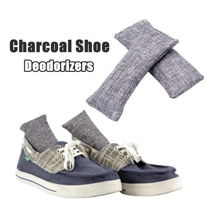 MALAYSIA] 2PCS/SET PENGHILANG BAU KASUT BEG / Bamboo Charcoal Air Purifying Bags Shoe Odor Eliminator