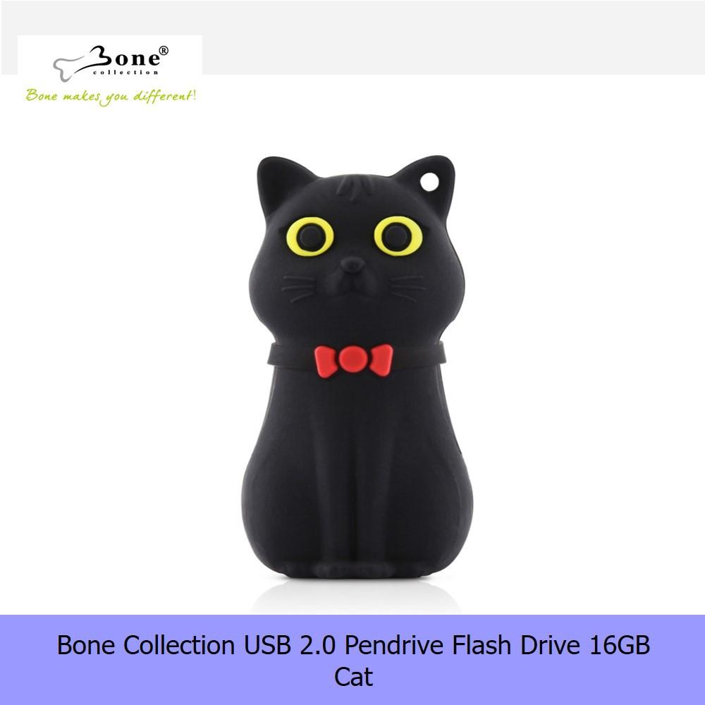 【16G Pendrive】Bone Collection USB 2.0 Pendrive Flash Drive 16GB - Black Cat
